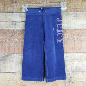 Juicy Couture Size 2 Toddler Blue Velour Track Pan